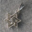 3/4 INCH 14K WHITE GOLD MAGEN DAVID JEWISH STAR lp195