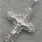 1 1/2 INCH SOLID 14KT WHITE GOLD CROSS CRUCIFIX  lp211