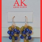 ANNE KLEIN GLASS BEAD DANGLE PIERCED EARRINGS 1.25""