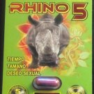 5 Pack Authentic Rhino 5 Male Sex Pill (No Headache, Doctor Designed)