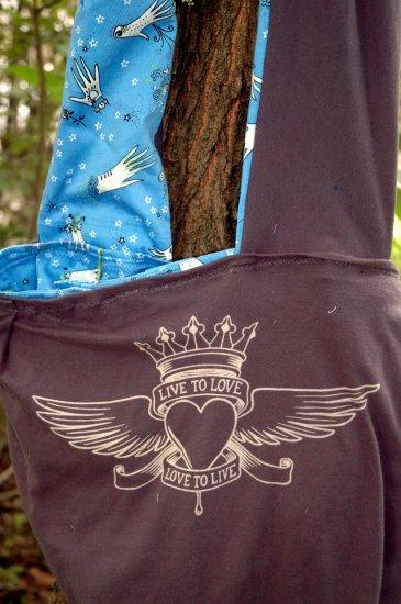 Blue Hand REVERSIBLE Boho Bag