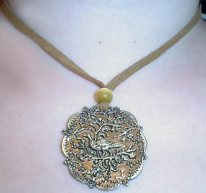 Medallion Bird Necklace
