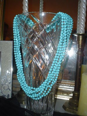 Vintage Multi-Strand Blue Necklace