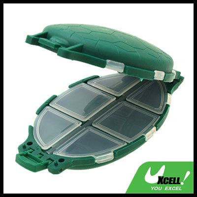 Portable Plastic Turtle Shaped Fishing Tackle Box