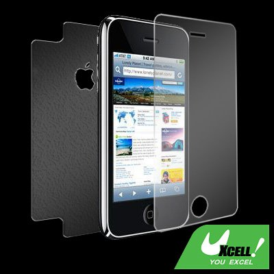 Anti-Glare LCD Screen Protector Shield + Back Guard for iPhone 3G
