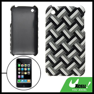 Hard Plastic Back Case with Gridding Pattern for iPhone 3G