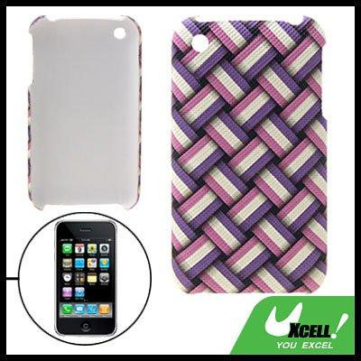 Anti-Slip Gridding Hard Plastic Case for Apple iPhone 3G
