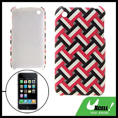 Anti-Slip Protective Plastic Hard Back Case for iPhone 3G