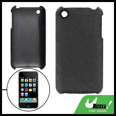 Anti-Slip Black Plastic Hard Back Case for iPhone 3G