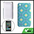 Plaid Plastic Hard Case Cover Light Blue for Apple iPhone 3G