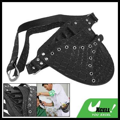 Hairdressing Scissors Leather Holster Holder Pouch Bag Black