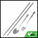 Stainless Steel Tableware Chopsticks Spoon Fork Cutlery Set
