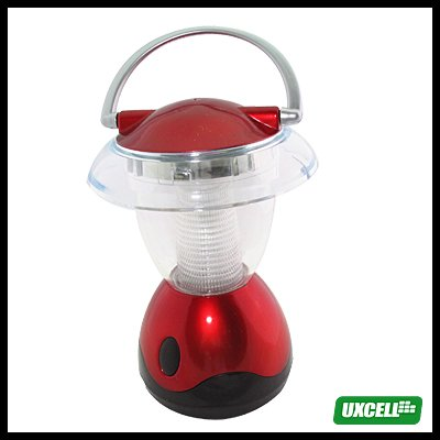 4 LEDs Super Bright Camping Lamp Light Lantern - Red