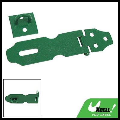 Heavy Safety Padlock Latch Door Hasp and Staple Green