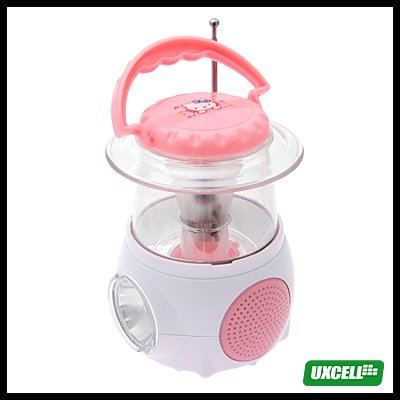 Mini Camping Lamp with Digital FM Radio (XH-838LST) - Pink