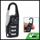 Luggage Bag 3 Digits Resettable Combination Padlock