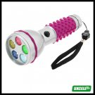 5 LED Bright Color Flashlight Torch for Camping Exploration (sk-205) - Purple