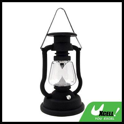 Solar Power 7 LED Vinatge Camping Kerosene Oil Lantern Light