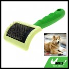 Green Handle Pet Dog & Cat Bristles Grooming Brush