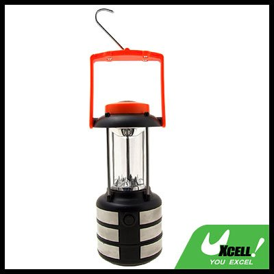 9 LED Camping Super Bright Compass Lantern Orange