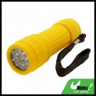 9 LED Powerful Camping Flashlight Torch Yellow