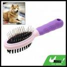 Purple Brush Pet Dog Grooming Shedding Brush