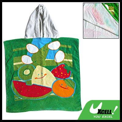 Kids Children's Hooded Bath Cotton Towel Fruit Pattern
