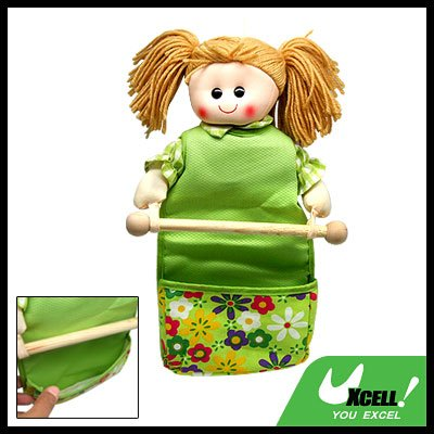 Lovely Doll Toilet Paper Tissue Towel Holder with Gadgets Holder