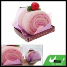 Pink Shower Swiss Roll Soft Cotton Gift Towel Facecloth