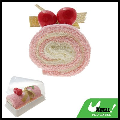 Pink Shower Long Cotton Towel Washcloth Swiss Roll Gift