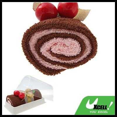 Brown Soft Cotton Swiss Roll Gift Towel Facecloth