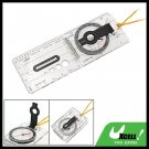 Foldable Navigation Camping Baseplate Compass Ruler Map
