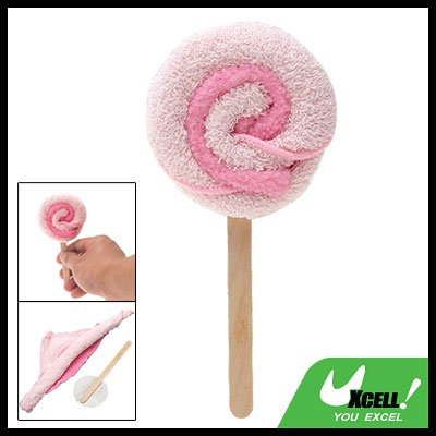 Pink Swirl Lollipop Small Towel Shaped Gift