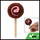 Charming Brown Hand Towel Washcloth Shaped Swirl Lollipop Gift