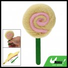 Charming Gift Yellow Hand Towel Washcloth Shaped Swirl Lollipop