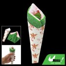 Pancake Pink Green Towel Shaped Cake for Keepsake Gift