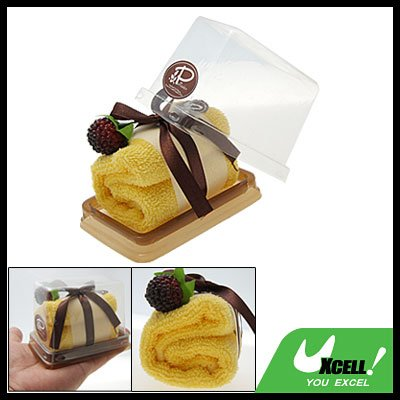 Yellow Shower Soft Cotton Towel Gift Cake Washcloth