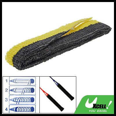 Badminton Racquet Towel Towelling Grip Yellow Black