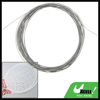 Nylon Fibre Slim Durable Gray Badminton Racket String Strap