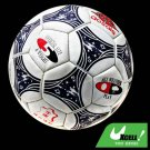 White Leather Soccer Ball Football with Blue Pattern Official Size 5