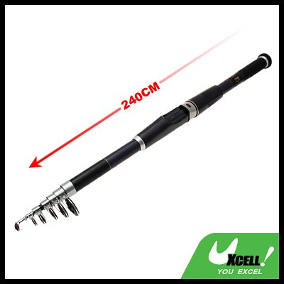Mariner Stand Up Saltwater Bait Fishing Retractile Telescopic Rod-240cm