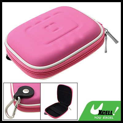 Portable GPS Carrying Case Bag Pink with Carabiner