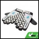 Football Soccer Ball Goalkeeper Gloves - Black and White@