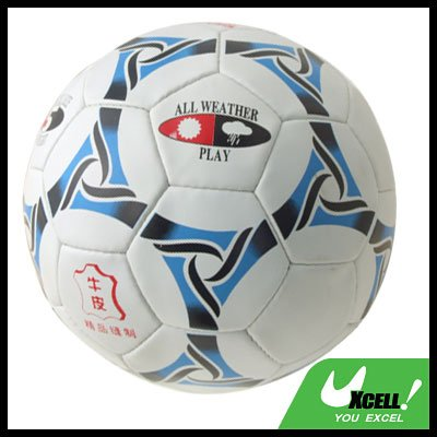 Leather Training Soccer Ball Football Official Size 5