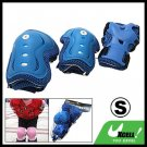 Kids' Soft Blue Elbow Knee Wrist Sports Support Protector S