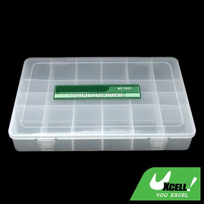 Adjustable Compartments Plastic Fishing Tackle Lure Bait Box