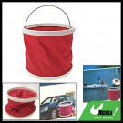 9L Red Portable Folding Water Bucket Pail for Fishing