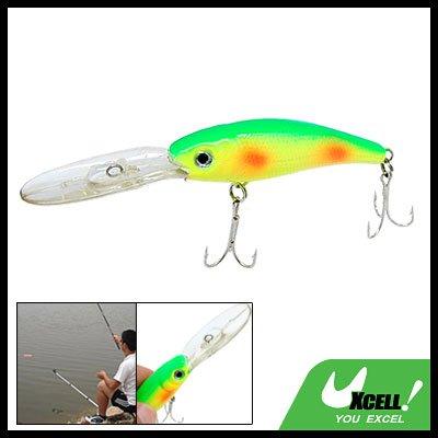 Yellow Green Fish Bait Lure Fishing Split Tackle Hooks