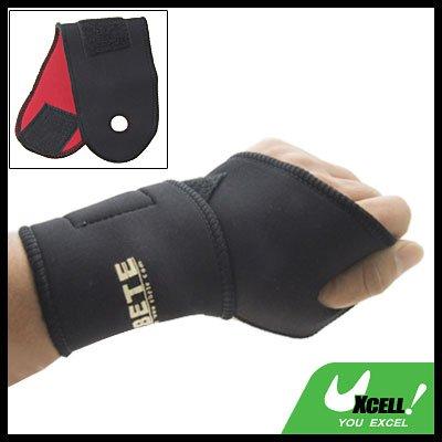 Sports Neoprene Velcro Fasten Adjustable Wrist Support Protector