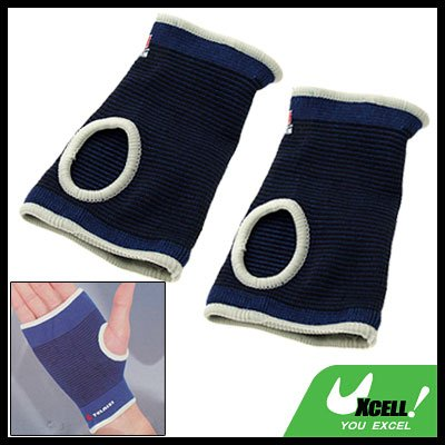 Sports Elastic Neoprene Wrist Palm Support Protector Blue